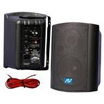 Amplivox S1232 30W RMS Powered Wall Mount Stereo Speakers