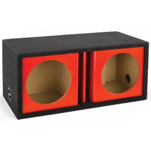 Atrend zv15d red dual 15 vented chambered kandy red for Bbox atrend enclosures 12