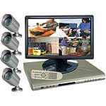 Clover BUN1970 19 Inch DVR Package with TFT Widescreen Monitor, IP Addressable 4-Channel DVR and 4 Cameras