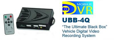 Crimestopper SecurView UBB-4Q-4 Mobile Digital Video Recording System w/ 4-Quadrant Divided Screen + 4 - SV-6920 LM Cameras