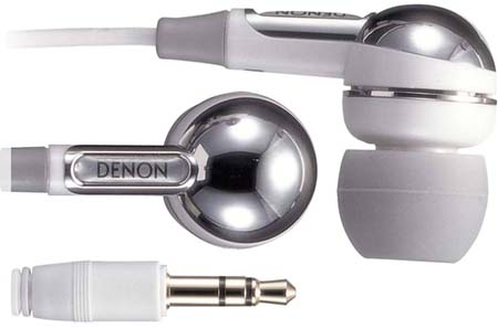 Denon AHC351W High-Quality Inner-Ear Headphones White