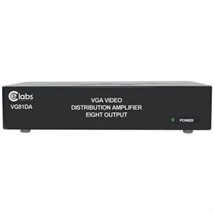 CE LABS VG81DA 1X8 1 Input 8 Output VGA Video Distribution Amplifier / Splitter