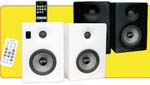 Earthquake IQ-52W iQuake 2.1 5.25 Inch 2 Way Speaker System for iPod and Portable Media White