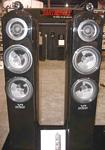 Earthquake Tigris Dual 8 Inch / 2 Inch / 1 Inch 3 Way 500 Watt Audiophile Home Theater Tower Speakers Black Piano Finish