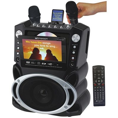 EMERSON GF827 DVD/CDG/MP3G Karaoke, Video & Music Player with 7 Inch Color TFT & 300 Songs