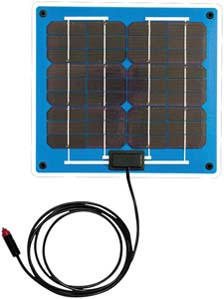 Go Power DURAlite GPDL-5 5 Watt .3 Amp 12V Solar Battery Charger