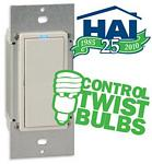 HAI 35A00-1CFL Compact Fluorescent Light (CFL) 600 Watt Smart Switch/Dimmer