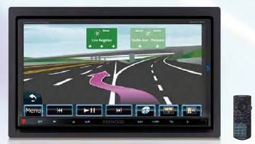 Kenwood DNX-7160 6.95 Inch 2-DIN Multimedia DVD Receiver With Navigation & Bluetooth 3 - 2V RCA Outs