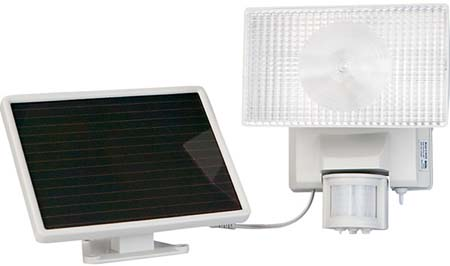 Maxsa 40220 Solar-Powered Halogen Security Floodlight