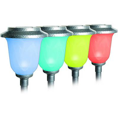 Maxsa Solar Powered Color Changing Chalice Path Light 42430