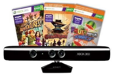 XBox 360 Kinect Adventures, Gunstringer/Fruit Ninja Kinect Sensor Bundle