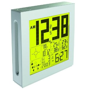 Oregon Scientific PSL02A LARGE Display Full Weather Station with Clock Yellow
