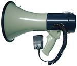 Amplivox S602M Piezo Dynamic Megaphone with DETACHABLE COIL-CORDED MIC, BUILT IN SIREN & WHISTLE, UP TO 1760 YARDS (1 MILE) SOUND COVERAGE