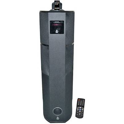 Pyle PHST92IBK 2.1-Channel 600-Watt Home Theater Tower with iPod/iPhone Docking Station - Black Wood Finish