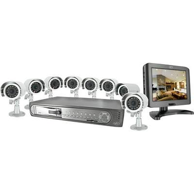SVAT CLEARVU3 Web-Ready 8-Channel DVR With 8 Inch LCD And 8 Night Vision Cameras