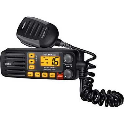 Uniden SOLARA-DSC BLACK Solara Compact Fixed Mount VHF 2-Way Marine Radio - Black