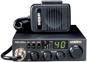Uniden PRO-520XL 7-Watt, 40-channel Compact CB Radio